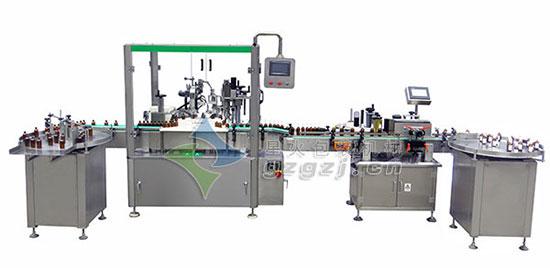 玫瑰精�tu�zhuang生产线-滴管盖液ti灌zhuang生产线